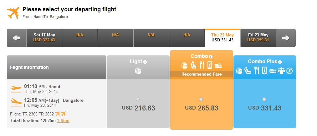 Chinasouthern Airlines đi Bangalore