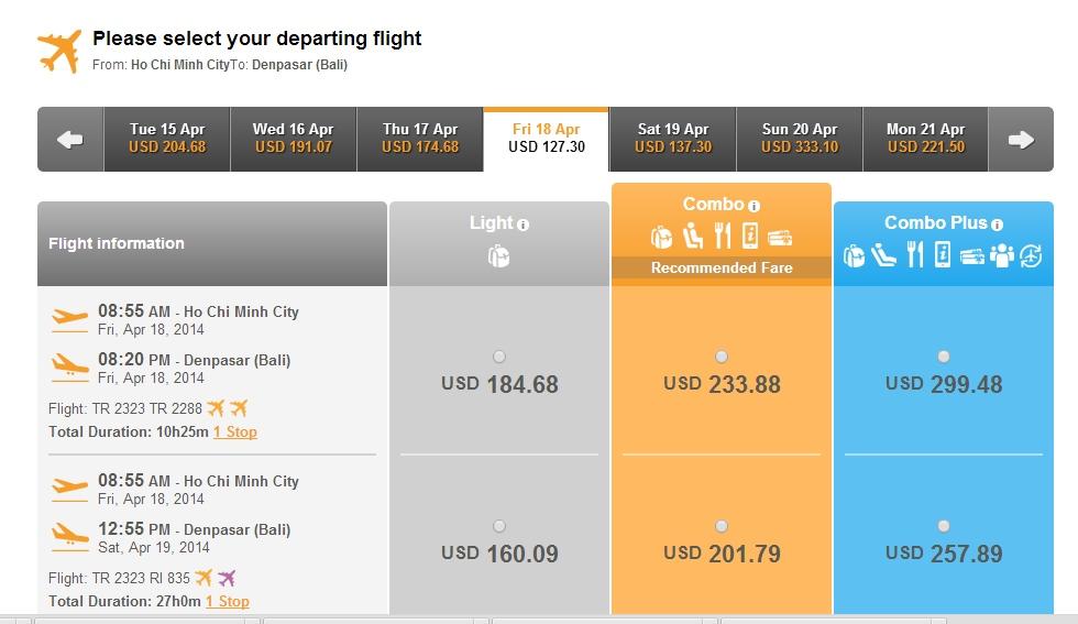 Chinasouthern Airlines đi Bali