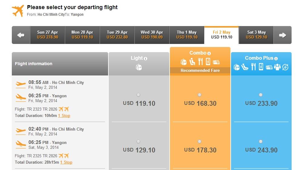 Chinasouthern Airlines đi Yangon