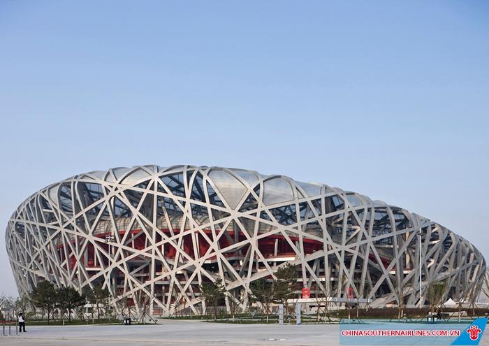 Bề ngoài sân vận động Tổ Chim - Bắc Kinh