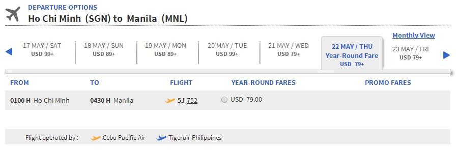 Vé máy bay đi Manila