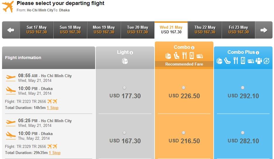 Chinasouthern Airlines từ Hà Nội đi Bangladesh