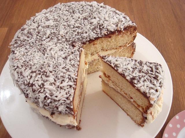 Món bánh Lamington ngọt ngào