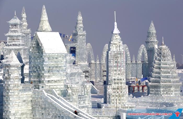 Cáp Nhĩ Tân nổi tiếng với lễ hội băng đăng lớn nhất thế giới