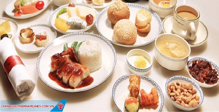 Ẩm thực trên chuyến bay China Southern Airlines