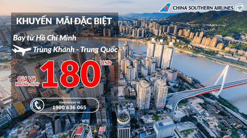 Đặt vé máy bay đi Trùng Khánh giá rẻ