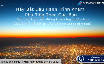 Khuyến mại China Southern Airlines