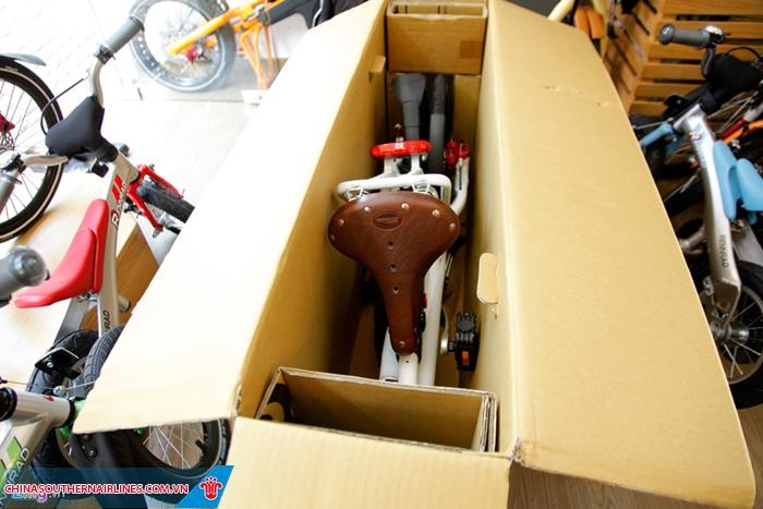 Xe đạp cần phải được đóng gói và cố định cẩn thận