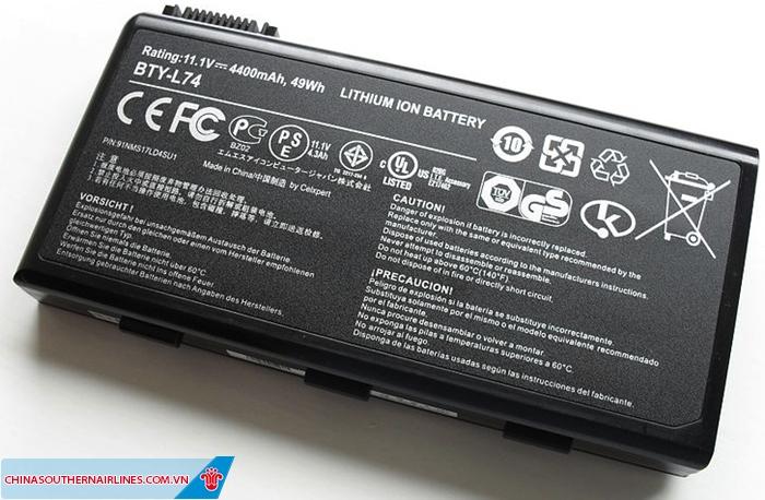 Mang pin lithium lên máy bay cần phải đảm bảo an toàn
