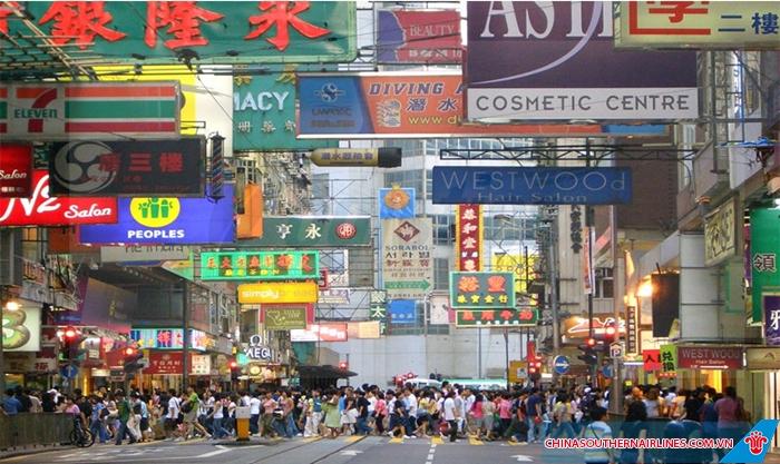 Thiên đường mua sắm Quảng CHâu với rất nhiều cửa hàng, cửa hiệu