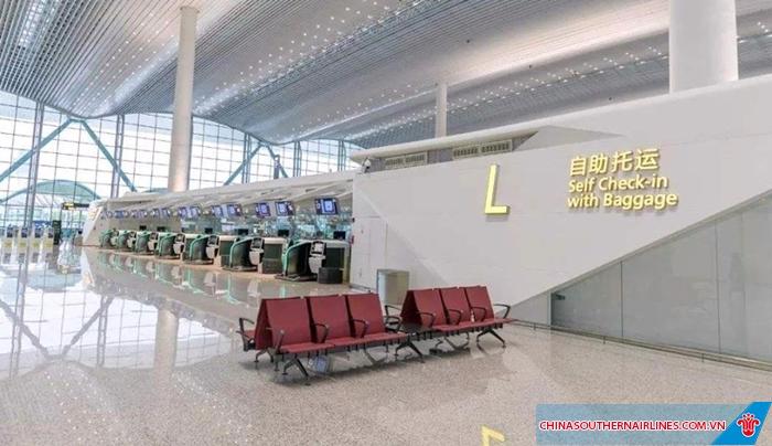 Sảnh chờ tại sân bay Bạch Vân - Quảng Châu