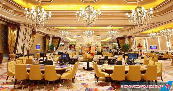 Các sòng bài ở Macau đều cực kì sang trọng
