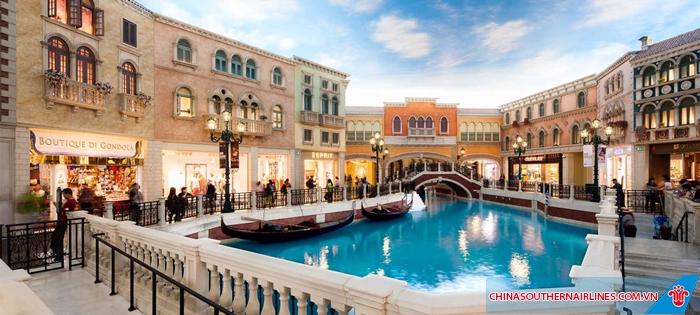 Cả thành phố Venice trong lòng resort cao cấp Venetian Macao