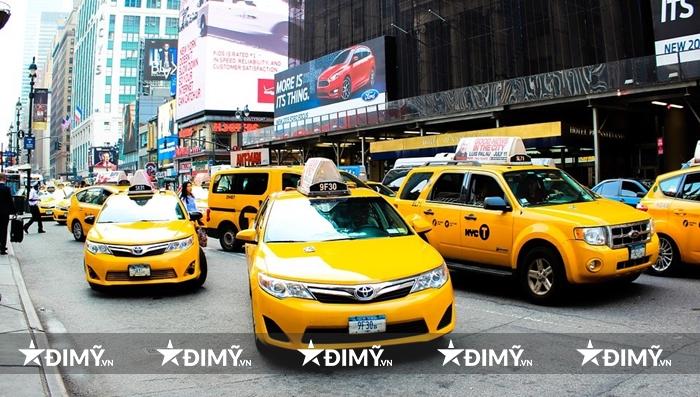 Taxi màu vàng là đặc trưng ở Mỹ
