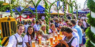 Uống bia trong những khu vườn mở ở Munich